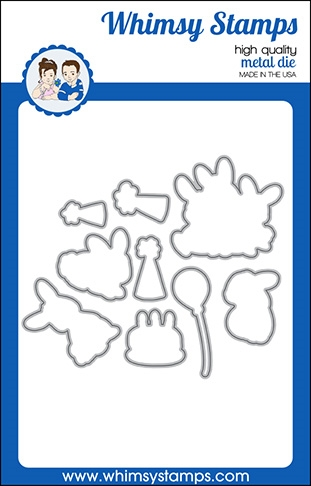 Whimsy Stamps BIRTHDAY BUNNY Outline Dies WSD360a Preview Image