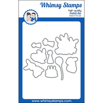 Whimsy Stamps BIRTHDAY BUNNY Outline Dies WSD360a