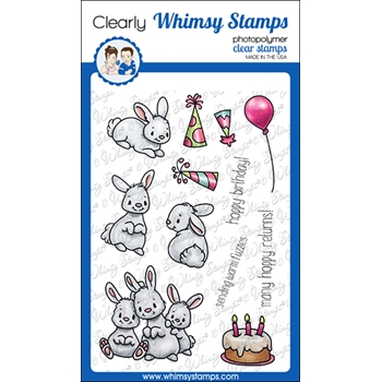 Whimsy Stamps BIRTHDAY BUNNY Clear Stamps C1267a