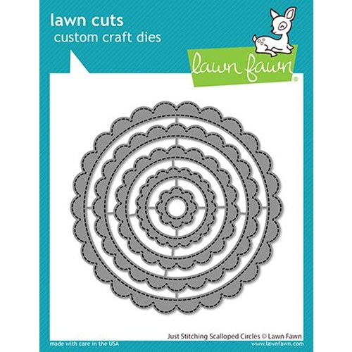 Lawn Fawn JUST STITCHING SCALLOPED CIRCLES Custom Craft Dies lf2571 Preview Image