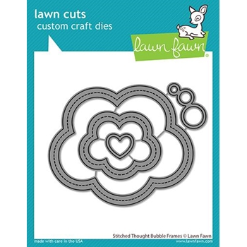 Lawn Fawn STITCHED THOUGHT BUBBLE FRAMES Custom Craft Dies lf2575