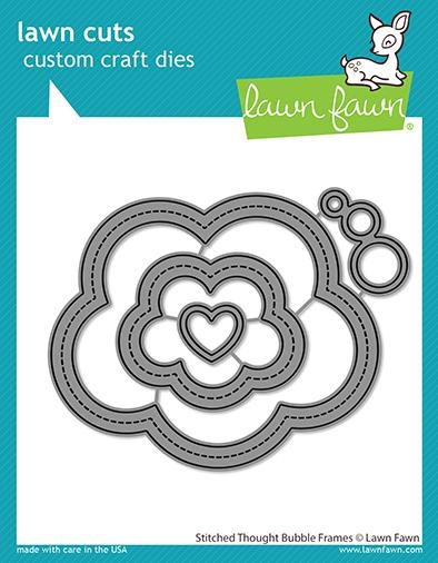 Lawn Fawn STITCHED THOUGHT BUBBLE FRAMES Custom Craft Dies lf2575 zoom image