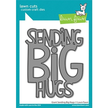 Lawn Fawn GIANT SENDING BIG HUGS Custom Craft Die lf2566