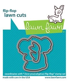 Lawn Fawn I LOVE YOU(CALYPTUS) FLIP-FLOP Custom Craft Dies lf2565