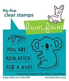 Lawn Fawn I LOVE YOU(CALYPTUS) FLIP-FLOP Clear Stamps lf2564 zoom image