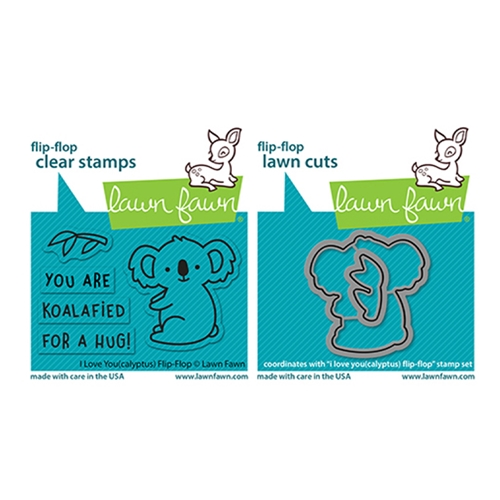 Lawn Fawn SET I LOVE YOU(CALYPTUS) FLIP-FLOP Clear Stamps and Dies lflycff Preview Image