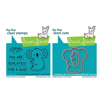 Lawn Fawn SET I LOVE YOU(CALYPTUS) FLIP-FLOP Clear Stamps and Dies lflycff