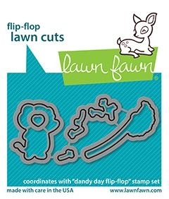 Lawn Fawn DANDY DAY FLIP-FLOP Custom Craft Dies lf2563