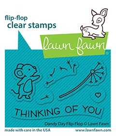 Lawn Fawn DANDY DAY FLIP-FLOP Clear Stamps lf2562