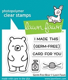 Lawn Fawn GERM-FREE BEAR Clear Stamps lf2462