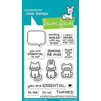 Lawn Fawn SAY WHAT? MASKED CRITTERS Clear Stamps lf2560
