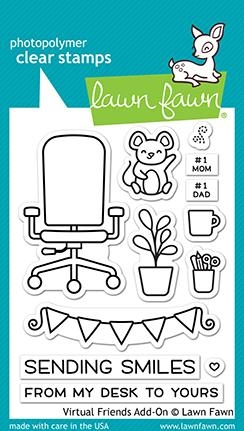 Lawn Fawn VIRTUAL FRIENDS ADD-ON Clear Stamps lf2558 Preview Image