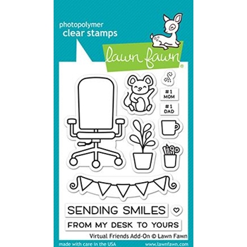 Lawn Fawn VIRTUAL FRIENDS ADD-ON Clear Stamps lf2558