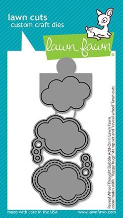 Lawn Fawn REVEAL WHEEL THOUGHT BUBBLE ADD-ON Custom Craft Dies lf2567 Preview Image