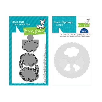 RESERVE Lawn Fawn SET REVEAL WHEEL THOUGHT BUBBLE ADD-ON Dies and Templates lfrwtb