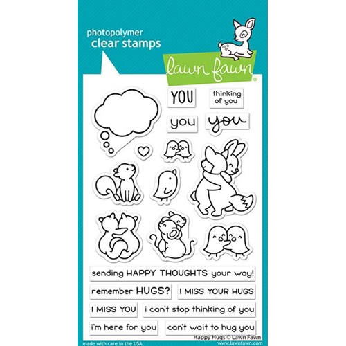Lawn Fawn HAPPY HUGS Clear Stamps lf2556 Preview Image