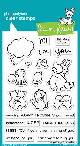 Lawn Fawn HAPPY HUGS Clear Stamps lf2556 zoom image