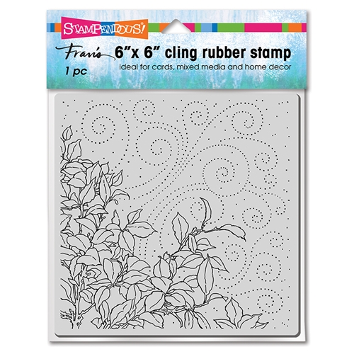 Stampendous Cling Stamp CLING LEAFY BREEZE 6cr022 Preview Image