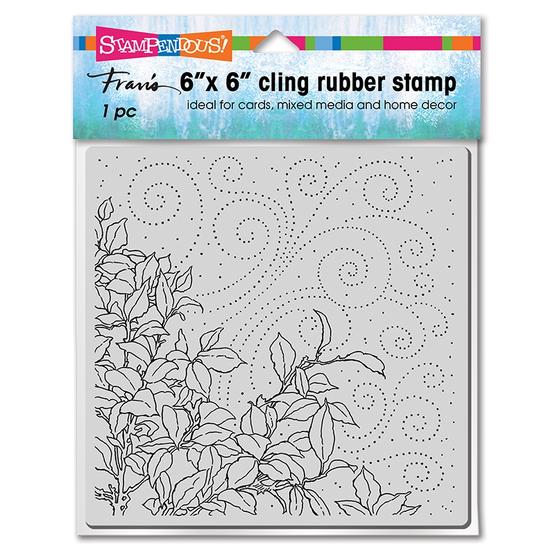 Stampendous Cling Stamp CLING LEAFY BREEZE 6cr022 zoom image