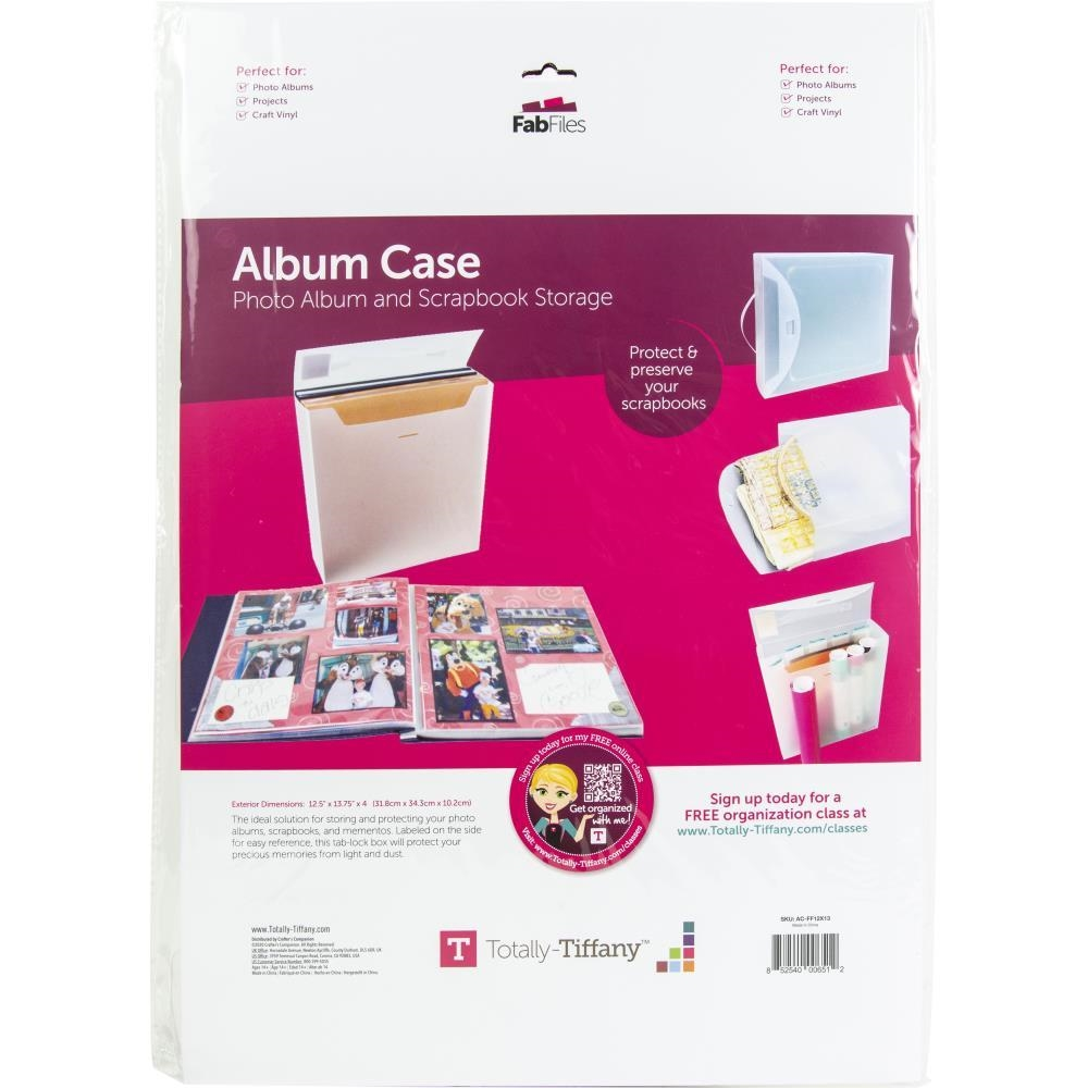 Totally Tiffany ALBUM CASE FAB FILE acff zoom image