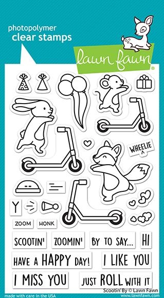 Lawn Fawn SCOOTIN' BY Clear Stamps lf2554 zoom image