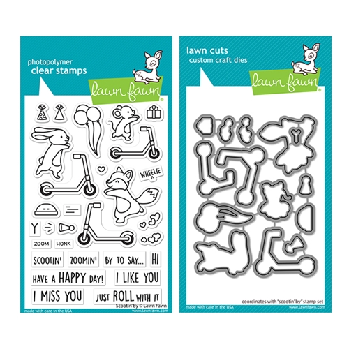 Lawn Fawn SET SCOOTIN' BY Clear Stamps and Dies lfscb Preview Image