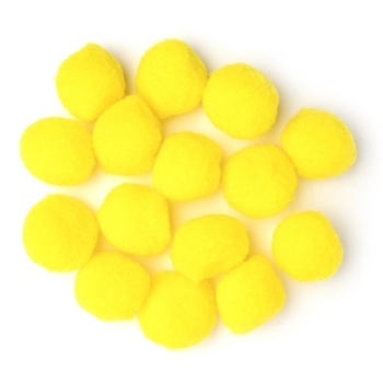 Darice YELLOW 1.5 INCH Craft Pom Poms 10178-34