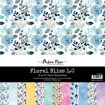Paper Rose FLORAL BLISS 1.0 12x12 Paper Pack 22051