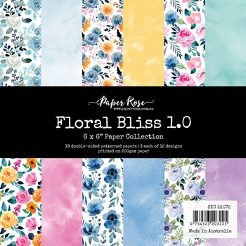 Paper Rose FLORAL BLISS 1.0 6x6 Paper Pack 22072