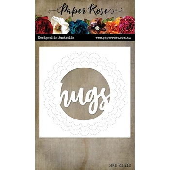 Paper Rose HUGS CIRCLE WITH STITCHED DETAIL Dies 21312