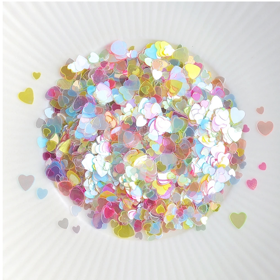 Little Things From Lucy's Cards Sprinkles SCATTERED HEARTS MULTICOLOR LB375 zoom image