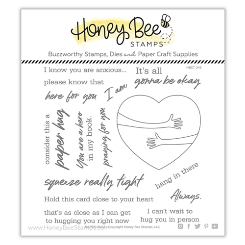 Honey Bee PAPER HUGS Clear Stamp Set hbst246 Preview Image