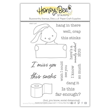 Honey Bee HANG IN THERE Clear Stamp Set hbst247