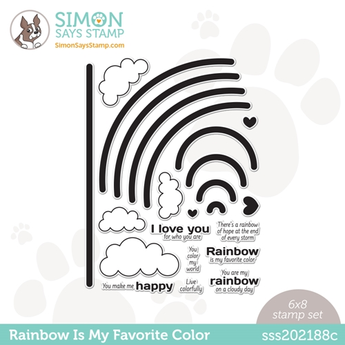 Simon Says Clear Stamps RAINBOW IS MY FAVORITE COLOR sss202188c Preview Image