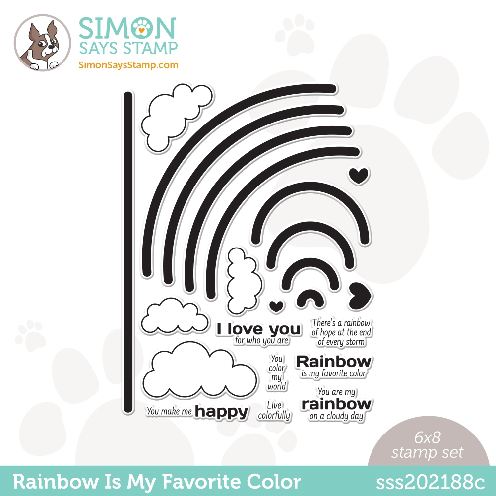Simon Says Clear Stamps RAINBOW IS MY FAVORITE COLOR sss202188c zoom image