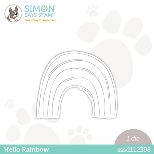 Simon Says Stamp HELLO RAINBOW Wafer Die sssd112398 Preview Image
