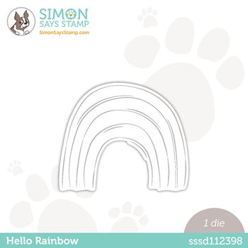 Simon Says Stamp HELLO RAINBOW Wafer Die sssd112398