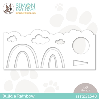 Simon Says Stamp Stencil BUILD A RAINBOW ssst221548