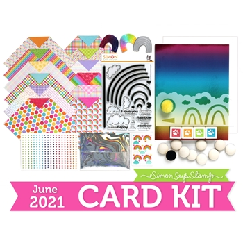 Simon Says Stamp Card Kit of the Month June 2021 RAINBOW IS MY FAVORITE COLOR ck0621