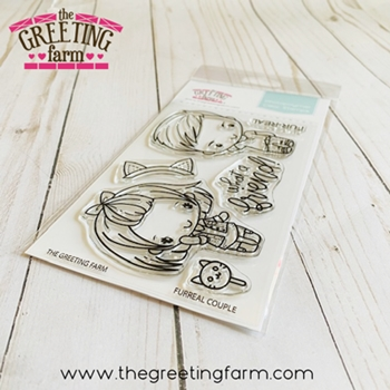 The Greeting Farm FURREAL COUPLE Clear Stamps tgf590
