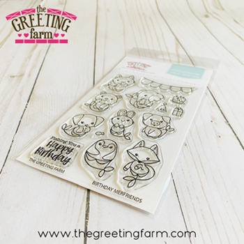 The Greeting Farm BIRTHDAY MERFRIENDS Clear Stamps tgf591