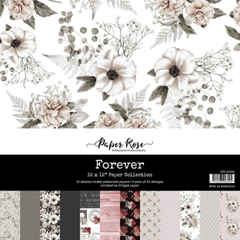 Paper Rose FOREVER 12x12 Paper Pack 22093