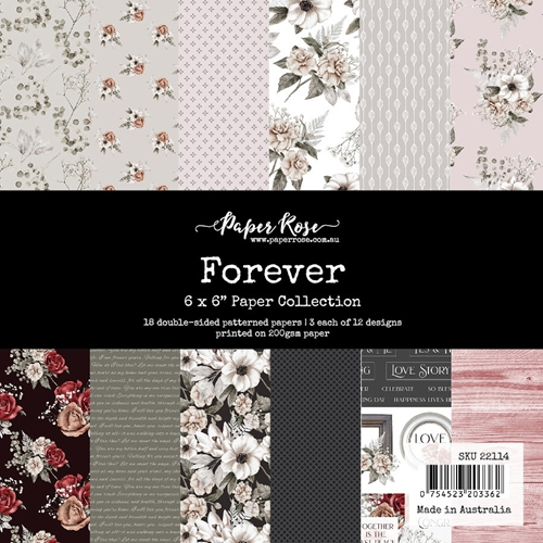 Paper Rose Forever 6x6 Paper Pack