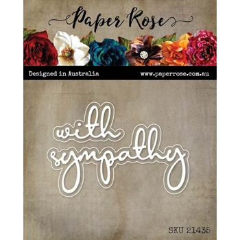 Paper Rose WITH SYMPATHY FINE SCRIPT LAYERED Dies 21435