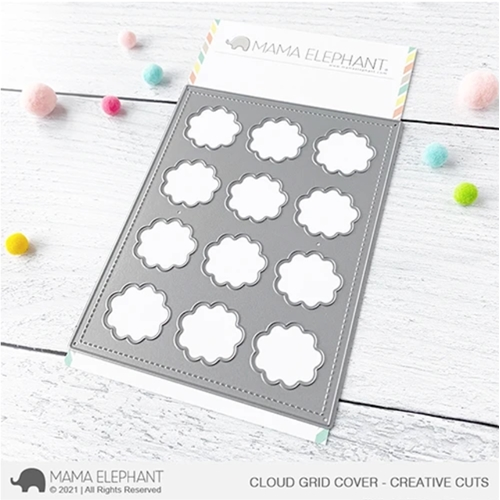 Mama Elephant CLOUD GRID COVER Creative Steel Dies Preview Image