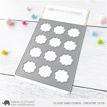 Mama Elephant CLOUD GRID COVER Creative Steel Dies