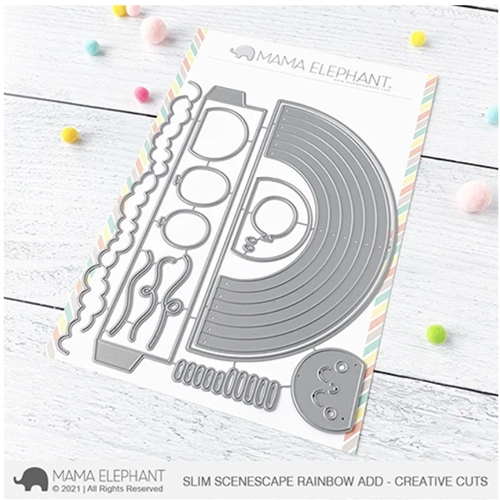 Mama Elephant SLIM SCENESCAPES RAINBOW ADD ON Creative Steel Dies Preview Image