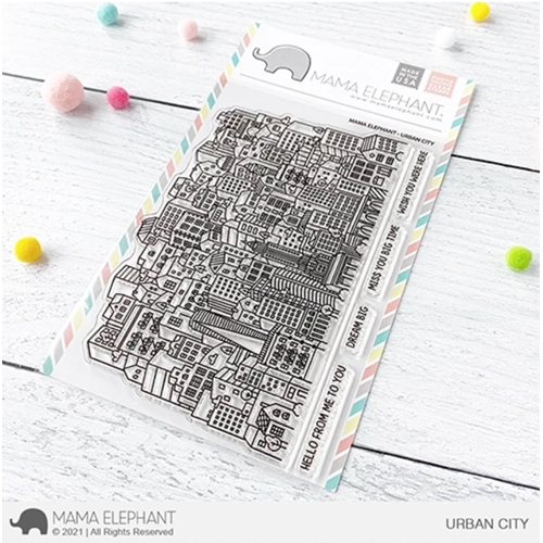 Mama Elephant Clear Stamps URBAN CITY  Preview Image