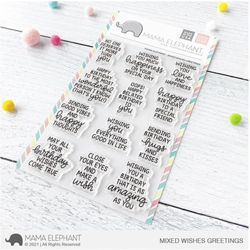 Mama Elephant Clear Stamps MIXED WISHES GREETINGS Preview Image