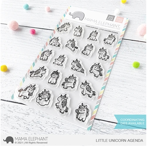 Mama Elephant Clear Stamps LITTLE UNICORN AGENDA  Preview Image